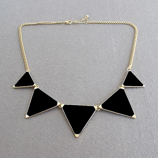4 Color Europe Style Enamel Triangle Choker Bib Necklace Tribal Spike Geometric | eBay