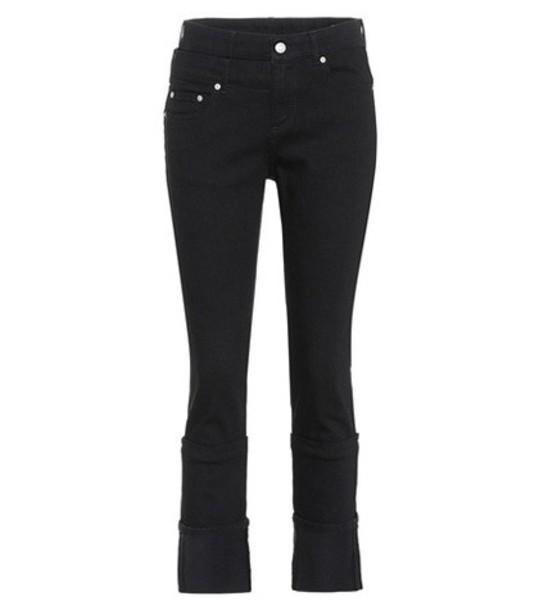 Alexander Mcqueen jeans high black