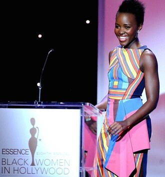 dress lupita nyong'o colorful spring