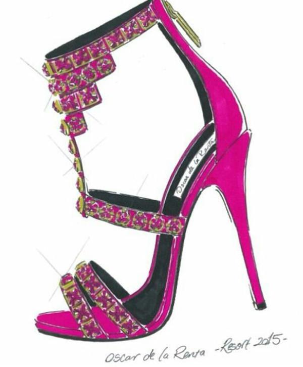 Fuschia Pink High Heel Shoes
