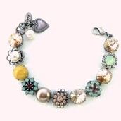 jewels,siggy,swarovski,bracelets,chunky,ornate,yellow,neutrals,12mm swarovski crystals,embellished bracelet,designer jewelry,fashion,fashionista,shopping,onlineshopping,bling,siggy jewelry