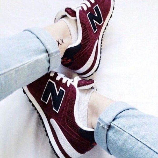 new balance 574, hipster, sneakers, red