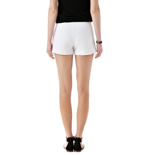 Short nido de abeja - Blanco - Pantalones cortos - Mujer - Promod
