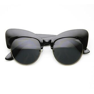 sunglasses cat eye half frame sunglasses