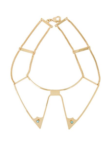 GOLDEN GOOSE DELUXE BRAND collar necklace women necklace gold grey metallic jewels