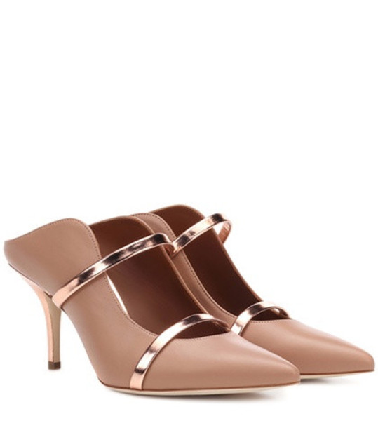 Malone Souliers Maureen leather mules in brown