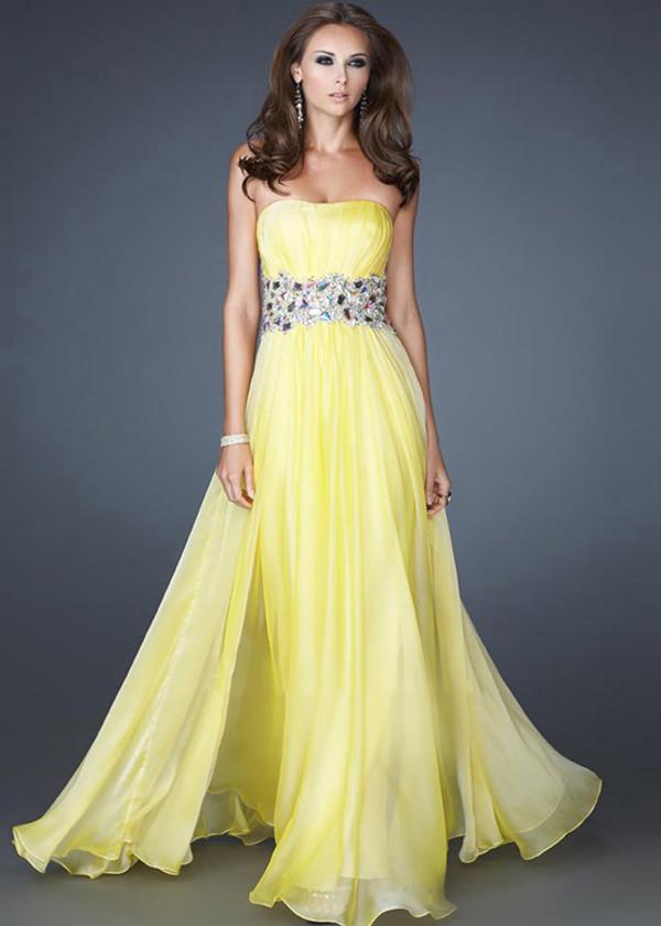 dress prom dress party dress long prom dress yellow prom dresses