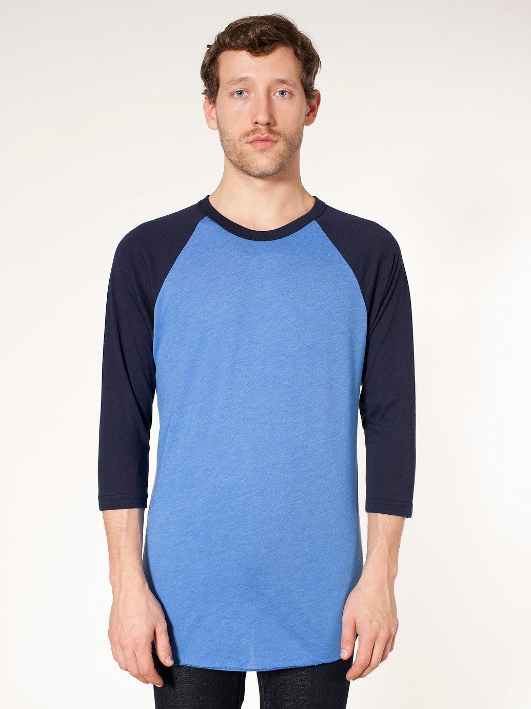 Poly-Cotton 3/4 Sleeve Raglan Shirt | American Apparel