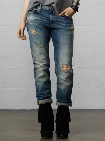 Oceanside Boyfriend Jean - Straight-Leg  Denim - RalphLauren.com