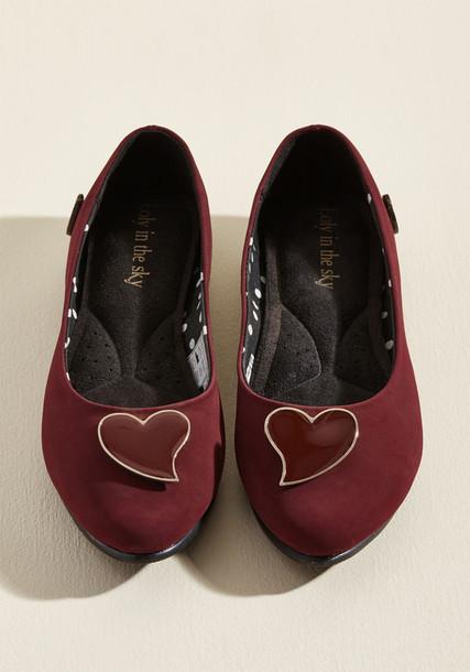 ASHLEY matte flats heels burgundy red shoes