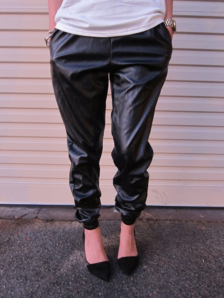 The original leatherette track pant – glamzelle