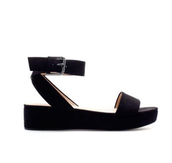 shoes flat sandals flatforms ankle strap flatform sandals