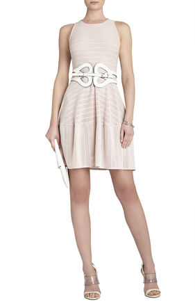 Cassandra Sleeveless A-Line Eyelet Dress | BCBG