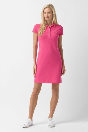 Lacoste Short Sleeve Stretch Pique Classic Polo Dress : Dresses