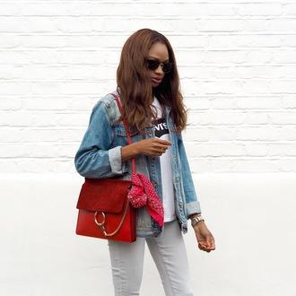 symphony of silk blogger t-shirt jacket bag