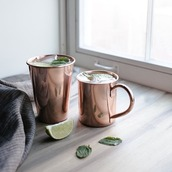 home accessory,home decor,kitchen,gold,copper coffee cups,mug,copper,hipster,dinnerware,our favorite home decor 2015,metallic home decor