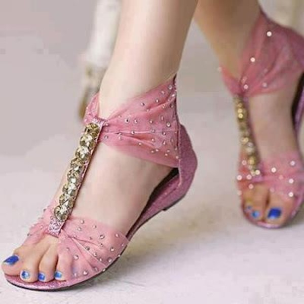shoes clothes pink glitter ribbon rhinestones t-strap sparkle girly pretty t-strap heels girly shoes pretty shoes sandals sparkle cute beautiful bow bows pink shoes summer beach
