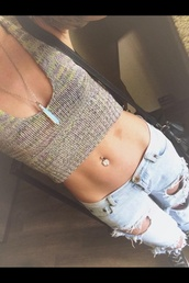 crochet crop top,hippie chic,pants,jewels,jeans,crop tops,ripped jeans,one teaspoon,outfit,tumblr outfit,hosie,josephine nicole,t-shirt
