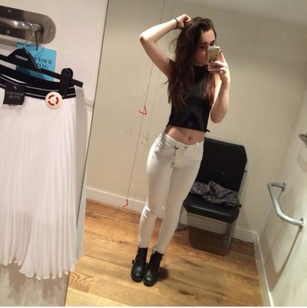 jeans white jeans instagram indie hipster dope