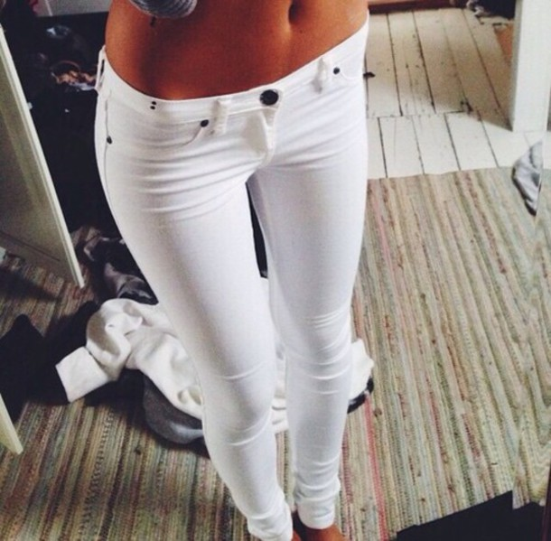 pants jeans white jeans