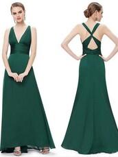 dress,long prom dress,chiffon prom dress,sexy prom dress,green,prom dress,bridesmaid
