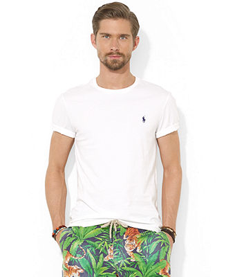 Polo Ralph Lauren Custom-Fit Cotton Jersey Crew-Neck T-Shirt - T-Shirts - Men - Macy's