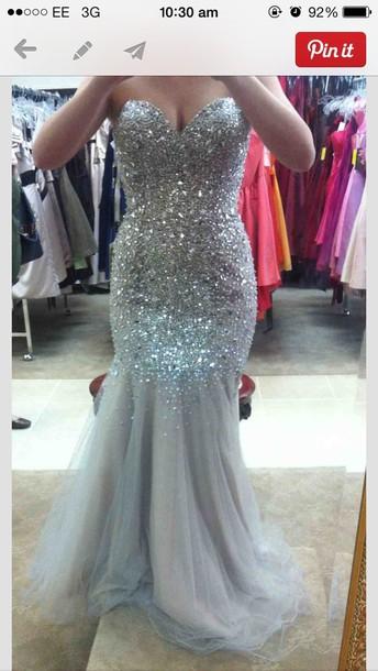 Silver Sparkle Mermaid Dress