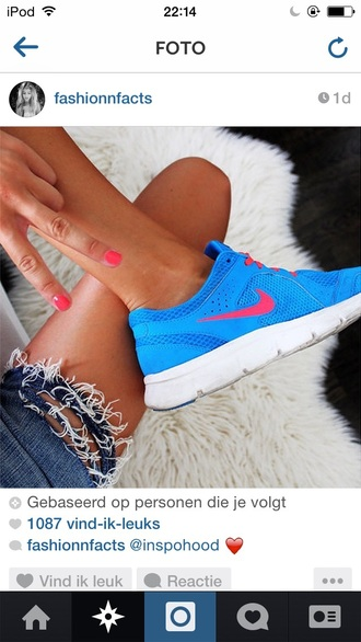 shoes nike blue shoes