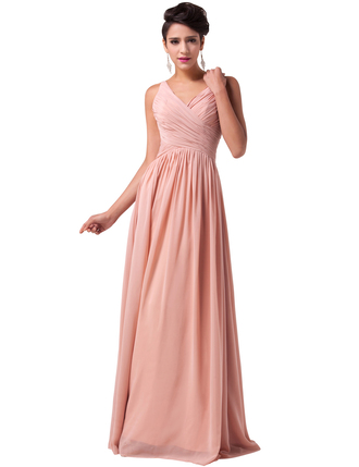 dress chiffon elegant pleated bridesmaid musthave prom dress classy