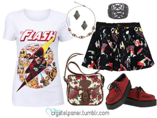 shoes skirt fashion marvel comics hipster t-shirt