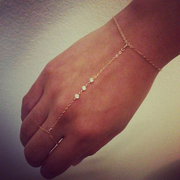 Slave bracelet hand chain 14k gold filled by carmacollection
