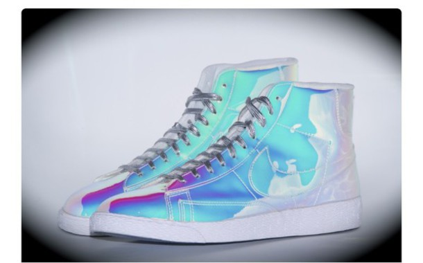 917698901d996 shoes holographic shoes nike shoes holographic high top sneakers