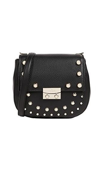 Kate Spade New York cross studded street bag black