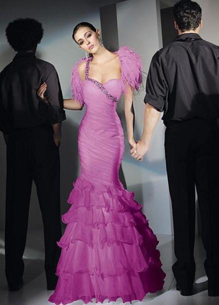 dress purple dress gown prom dress