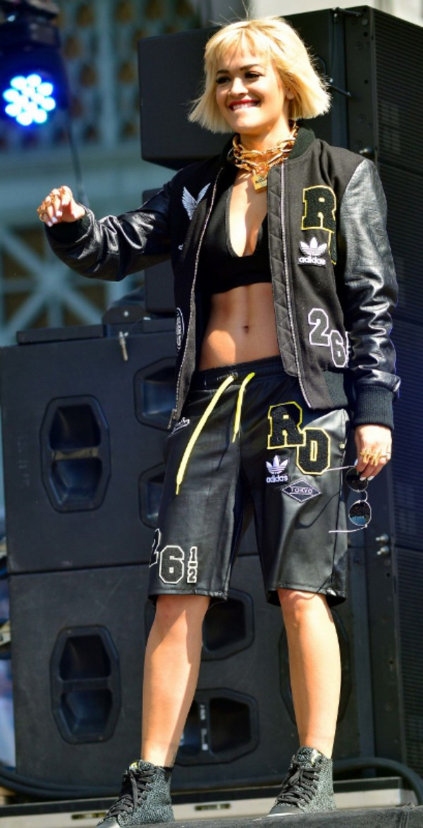 shorts rita ora jacket