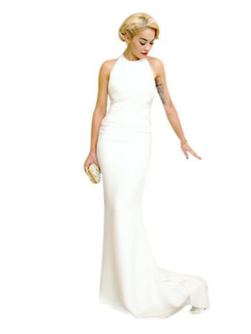 Long White Satin Evening Dress  (6112) - MADE TO ORDER | Bridal wear, bridesmaid and red carpet dresses from Elliot Claire London