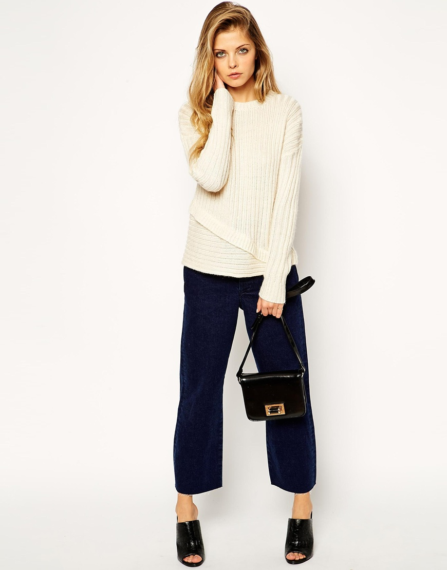 Asos jumper with folded ribs at asos.com