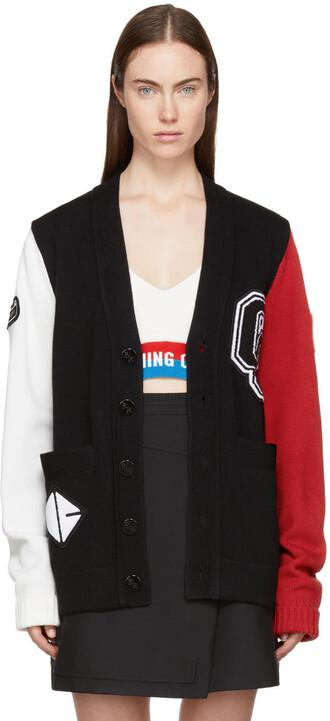 cardigan varsity black sweater