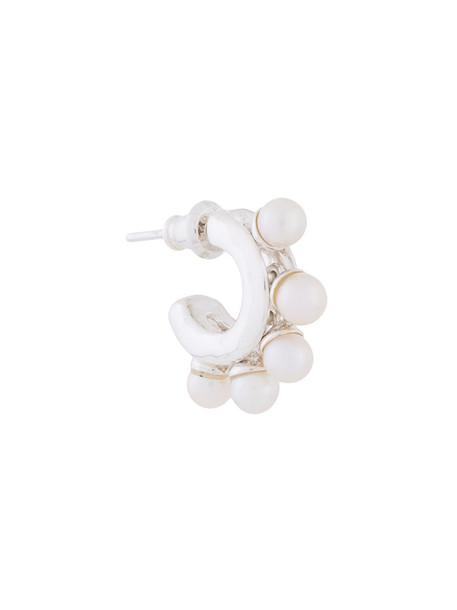 women pearl silver white grey metallic jewels