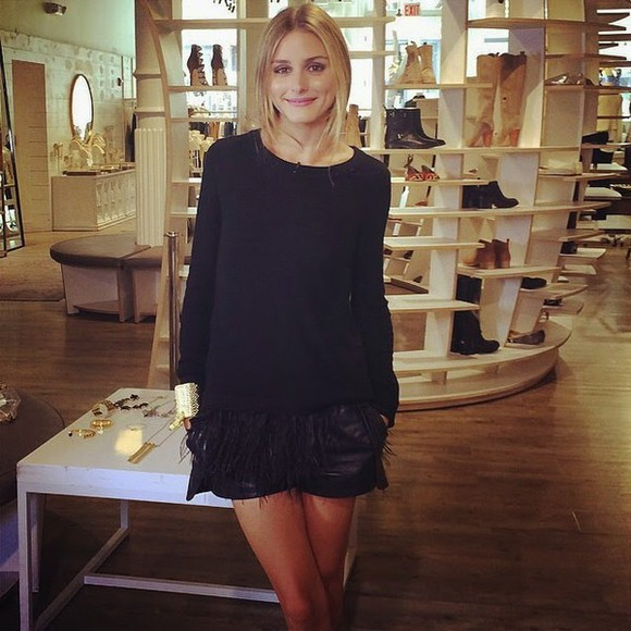 olivia palermo top shorts black