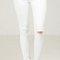 Split knee skinny jeans