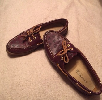 shoes sperry sperry top siders leather anchor cherry red top siders boat shoes