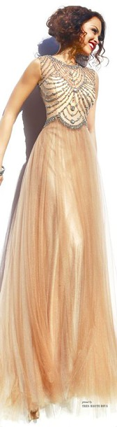 gold dress dress sherri hill gold gown clothes beaded prom dress beaded dress beading prom dress