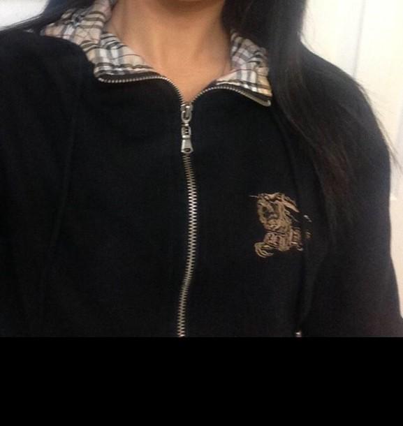 jacket burberry black