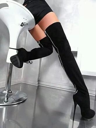 black heel boots thigh high boots thigh-high boots black boots black heels knee high boots black thigh high boots