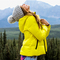 Aeo get down hooded puffer jacket, chalk   american eagle outfitters