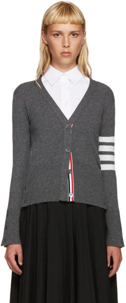 Thom Browne cardigan cardigan classic grey sweater