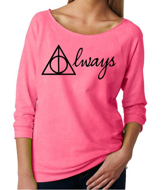Harry potter womans sweatshirt. harry potter always . harry potter sweatshirt . harry potter always raglan pullover . harry potter .