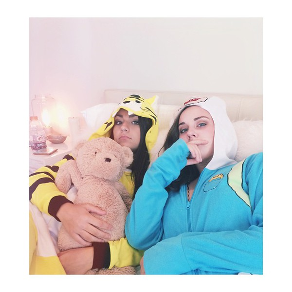 jumpsuit onesie andrea russett arden rose tigers adventure time