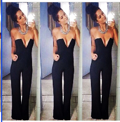 Plunge v neck jumpsuit · summah breeeze · online store powered by storenvy